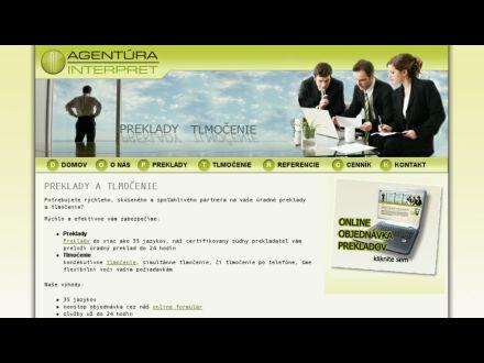 www.agenturainterpret.sk