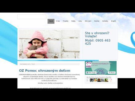 www.centrumnadej.sk