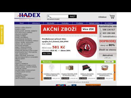 www.hadex.cz