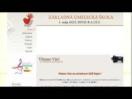 www.mzusrajec.sk