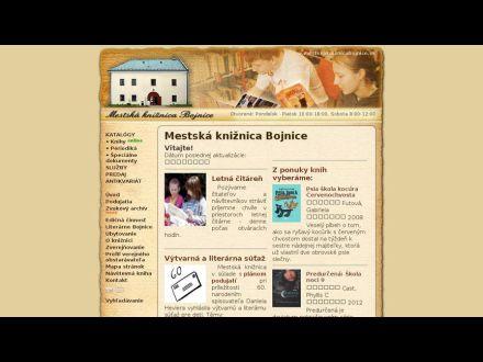www.mestskakniznicabojnice.sk