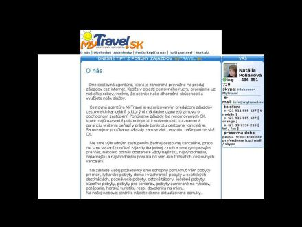 www.mytravel.sk