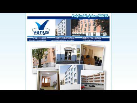 www.vanys.sk