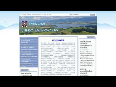 www.obec-bukovina.sk