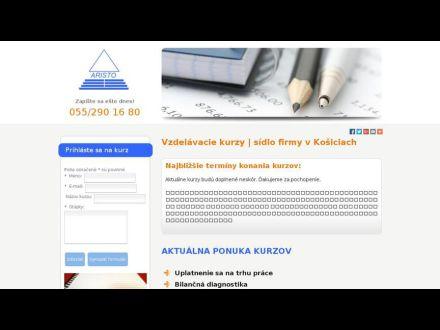 www.vzdelavanie-aristo.sk