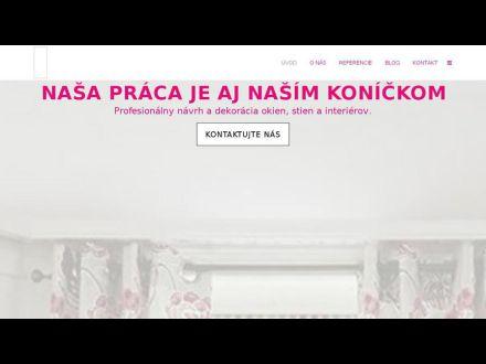 www.zaclony-zavesy.sk