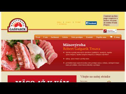 www.gasparikmasovyroba.sk