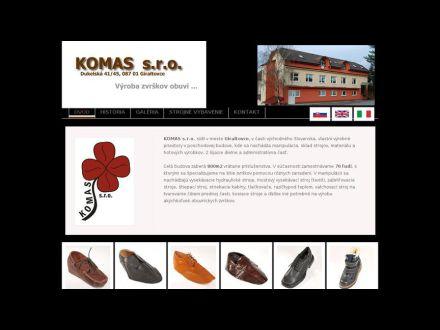 www.komas-shoes.sk