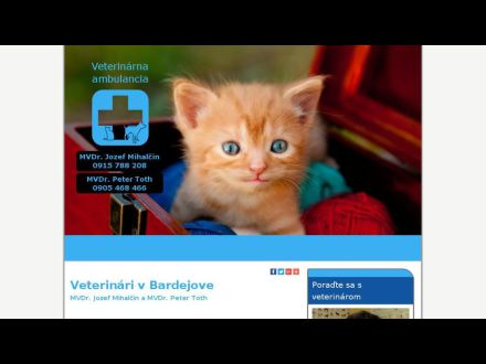 www.veterinarbardejov.sk