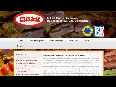 www.masoparizek.sk