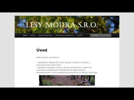 www.lesymodra.sk