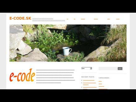 www.e-code.sk