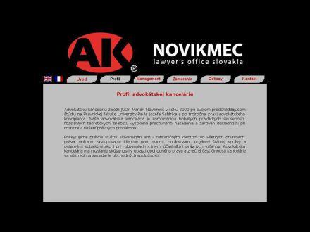 www.aknovikmec.com/profilsk.html