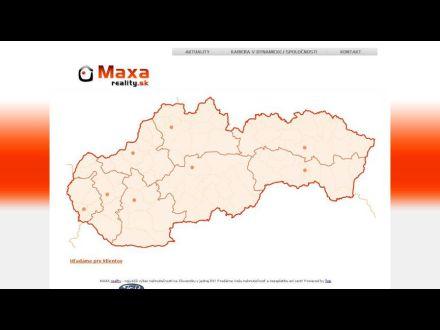 www.maxareality.sk