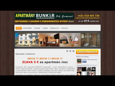 www.apartmanyhumenne.sk
