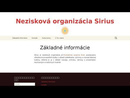 www.siriusno.sk