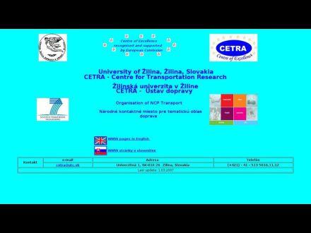 www.cetra.uniza.sk