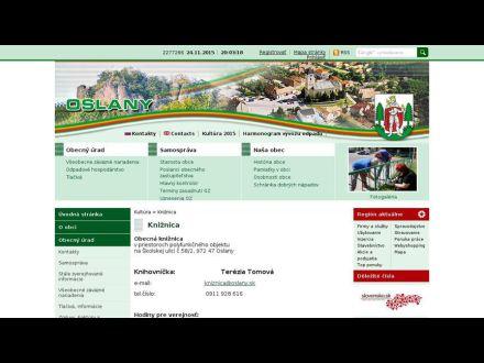 www.oslany.sk/kniznica.phtml