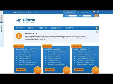 www.webhosting.platon.sk