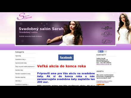 8a240e4dbb88 Svadobný salon Sarah