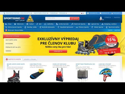www.sportisimo.sk