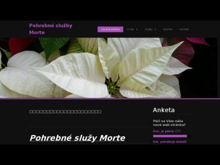 www.pohrebnesluzbymorte.webnode.sk