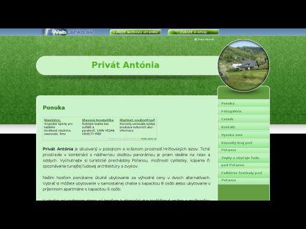 www.privatantonia.weblahko.sk