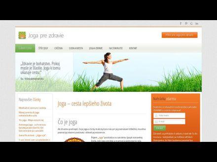 www.jogaprezdravie.sk