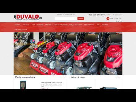 www.duvalo.sk