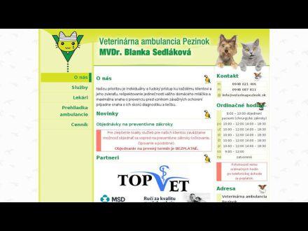 www.veterinapezinok.sk