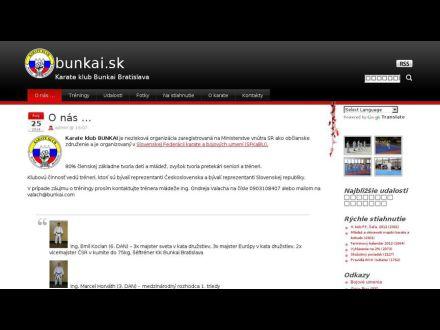 www.bunkai.sk