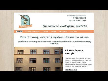 www.utesnenieokien.sk