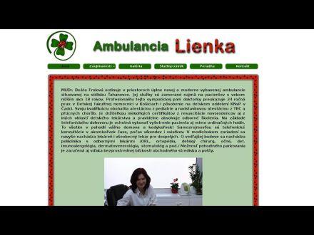 www.ambulancialienka.sk