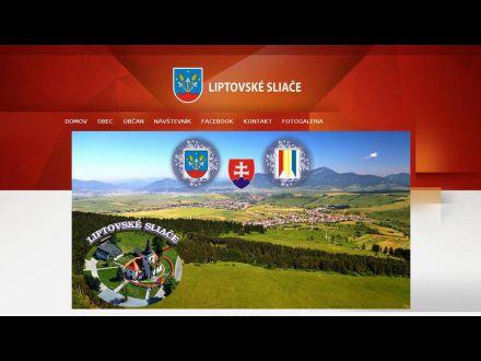 www.liptovskesliace.sk