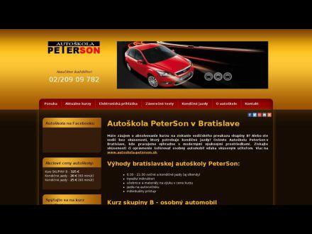 www.autoskola-peterson.sk