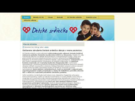 www.detskesrdiecko.sk