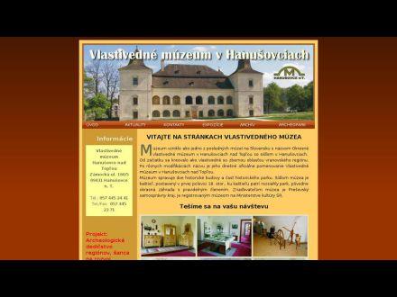 www.muzeumhanusovce.sk