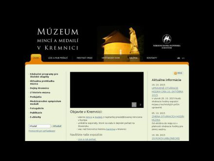 www.muzeumkremnica.sk