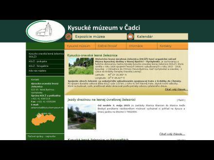 www.kysuckemuzeum.sk/index.php/expozocie-muzea/historicka-lesna-uvraova-eleznica-hluz
