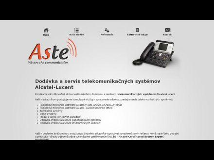 www.aste.sk