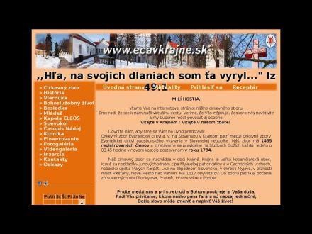 www.ecavkrajne.sk