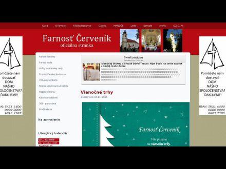www.farnostcervenik.sk