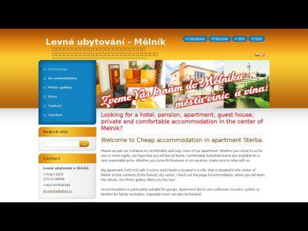 www.ubytovani-melnik.webnode.cz