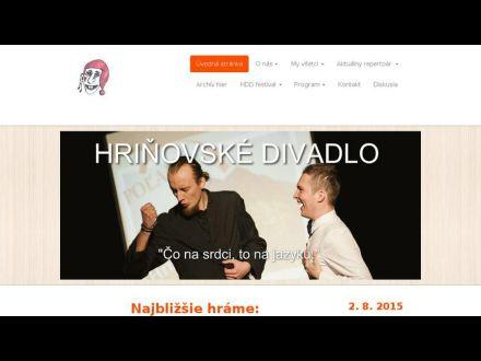 www.hrinovskedivadlo.sk