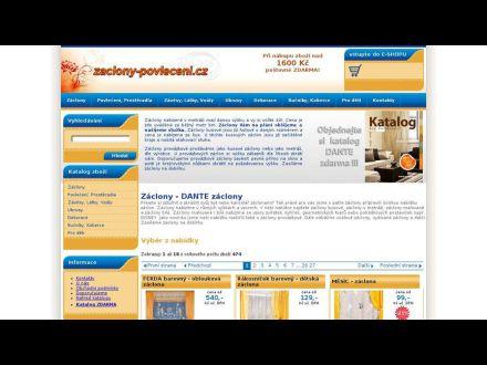 www.zaclony-povleceni.cz