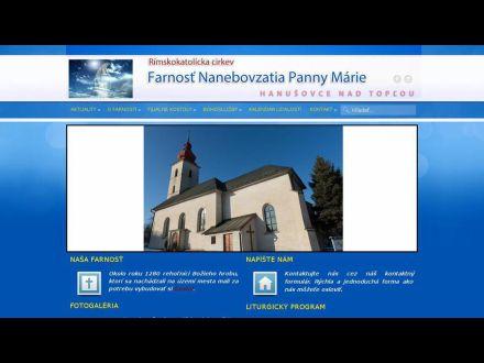 www.hanusovce.rimkat.sk