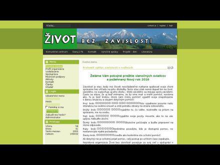 www.zivotbezzavislosti.sk