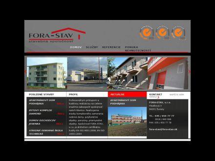 www.fora-stav.sk