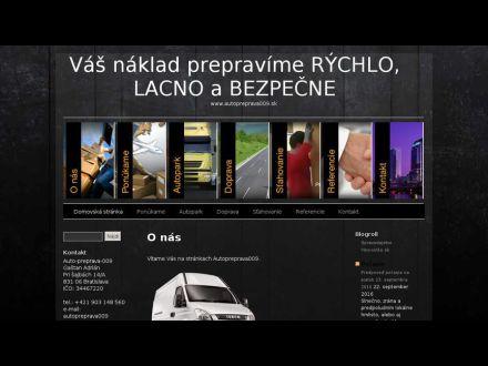www.autopreprava009.sk