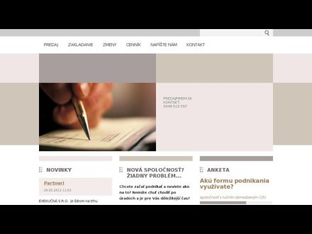 www.predajfiriem.webnode.sk